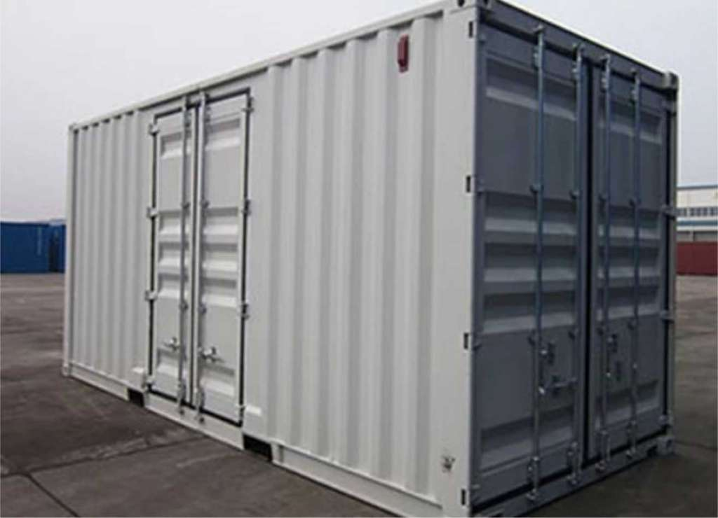 cold storage trailer converted to a blast freezer for food or medical storage