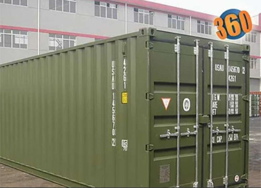 40' standard shipping container to be used for extra storage space